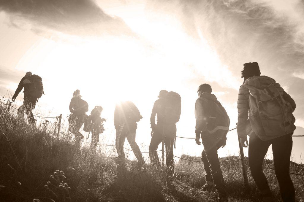 group of people navigating risk